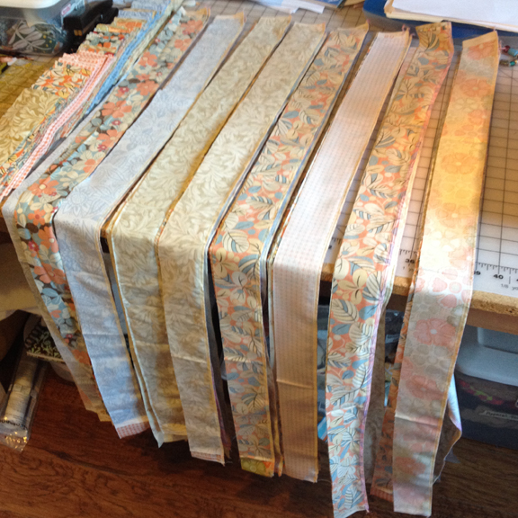 Quilt Patterns Using Strips Of Fabric : Serger Strip Quilt