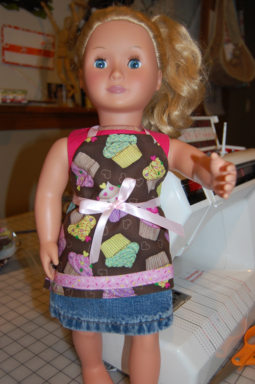 "18"" Doll Apron Pattern"