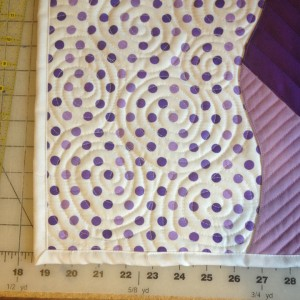 Purple Polka Dot Doll Quilt | ReannaLily Designs
