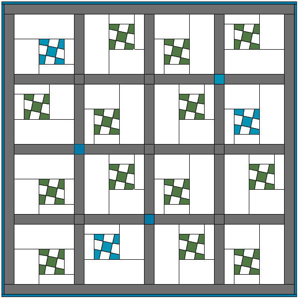 Wonky 9-Patch Quilt AccuQuilt GO! Compatible FREE Modern Quilt Pattern