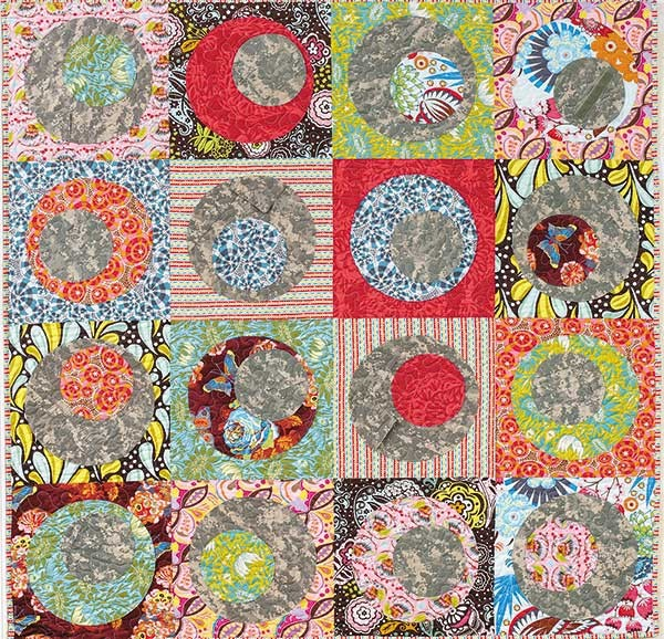 Fun Colorful Quilts-Leisure Arts - Stacked Circles by Jen Eskridge