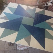 Double Aster Barn Quilt