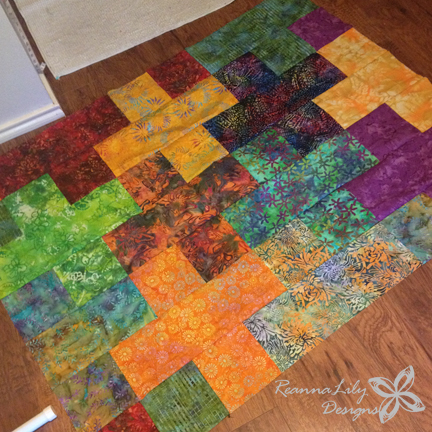 Batik Plus Quilt by ReannaLily Designs