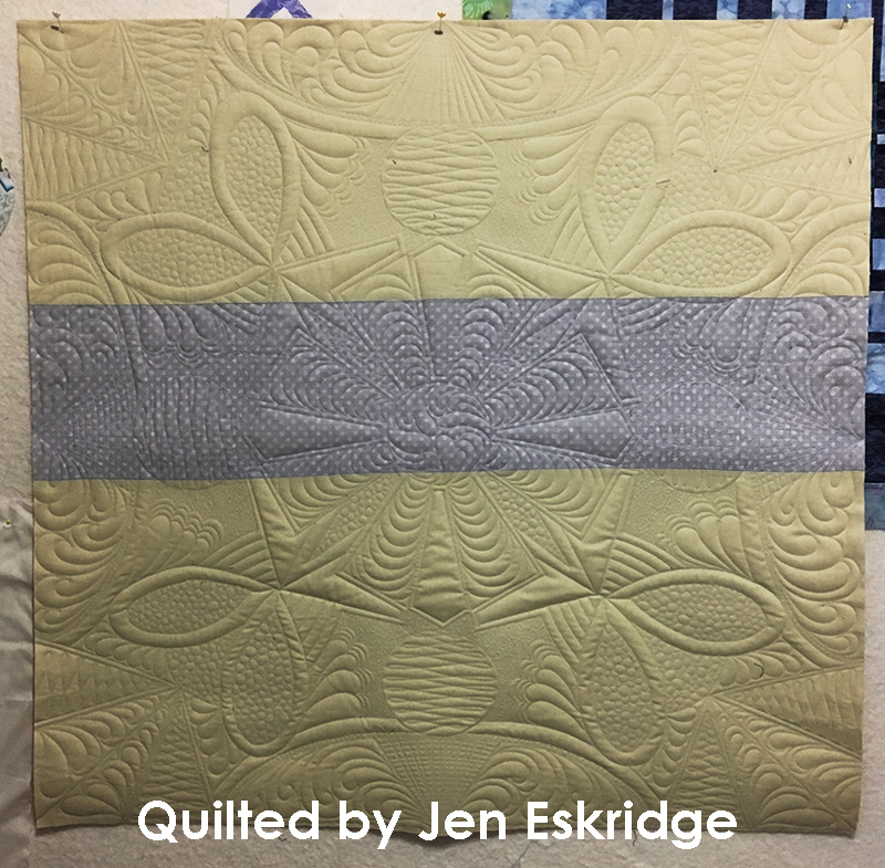 Buggin Out Wholecloth Quilt Design | Free-Motion Framework | Jen Eskridge | ReannaLily Designs | ReannaLily Quilts