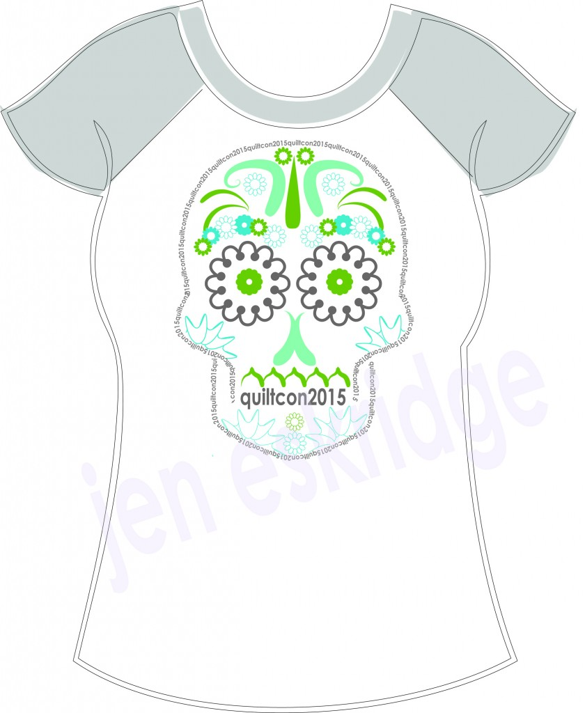 QuiltCon T-Shirt Contest | ReannaLily Designs | Sugar Skull | 3-Color