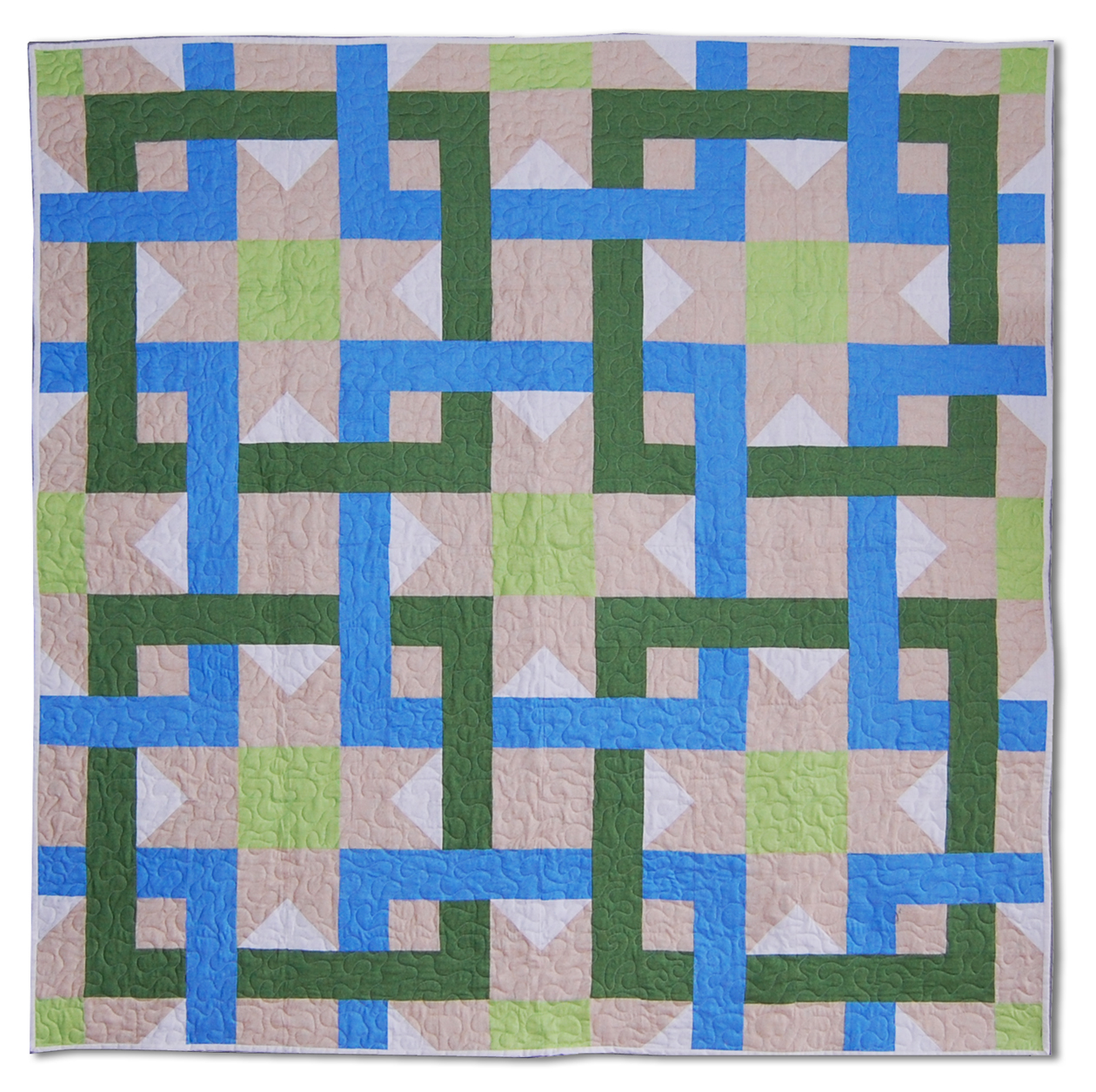 Large Square Block Quilt Patterns : Interlocking Squares Quilt Pattern ReannaLily Designs