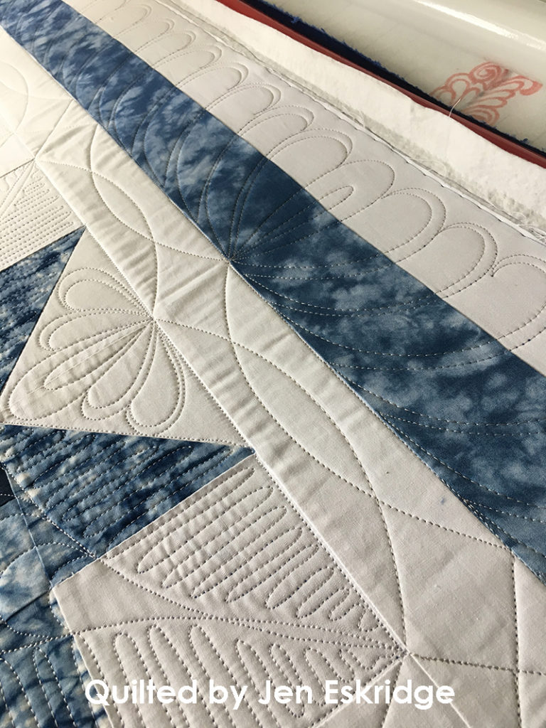 Patchwork Star Custom Quilting Design by Jen Eskridge ReannaLily Quilts & ReannaLily Designs