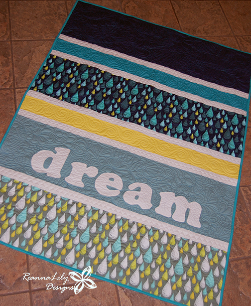 Dream Quilt by Jen Eskridge | ReannaLily Designs | ReannaLily Quilts | Graffiti Quilting Style | Free Motion Longarm Quilting