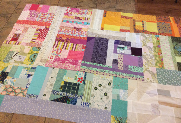 Scrap Quilt | Finished Top | ReannaLily Designs