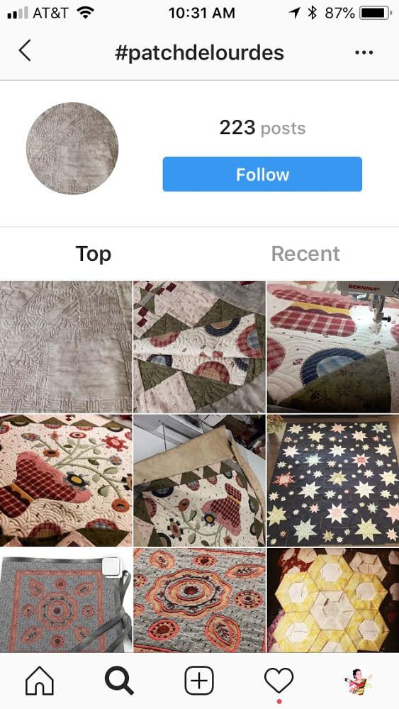 ReannaLily Designs Profile Pic on Instagram - Jen Eskridge - Learn to see Quilts in from other countries on Instagram