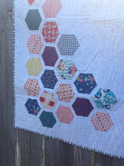 Hexagon Wall Hanging | Hexagons Made Easy | Free Motion Quilting |ReannaLily Designs