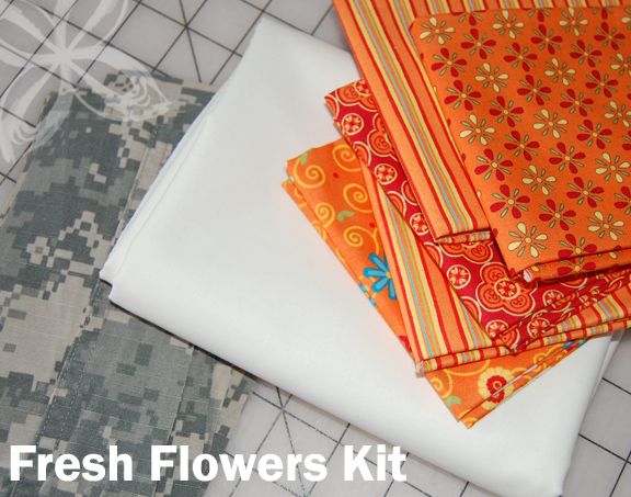 Home Front Snuggler QUILT- Fresh Flowers KIT
