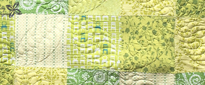 Green Patchwork Baby Quilt