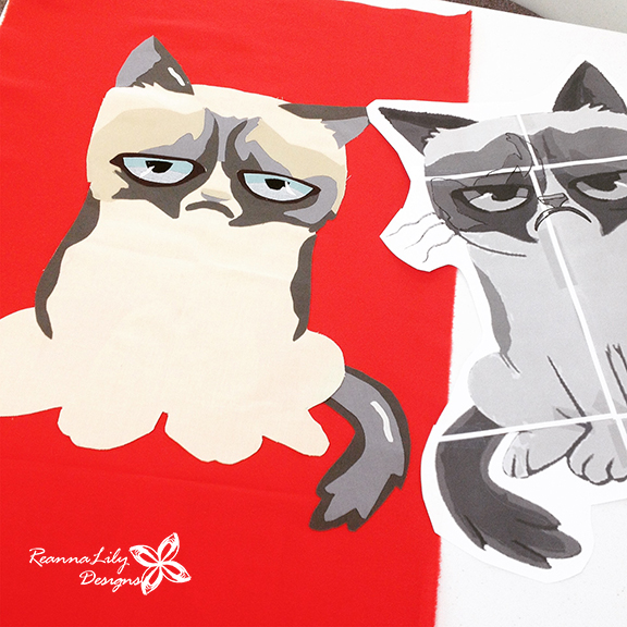 Grumpy Cat Quilt | Pop Culture Sewing Bee | SAMQG | Jen Eskridge | ReannaLily Designs