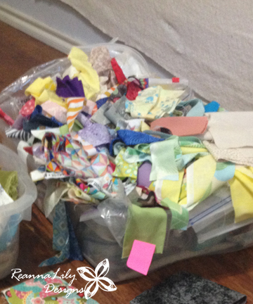 How to Sort Quilting Fabric Scraps | Jen Eskridge | ReannaLily Deigns