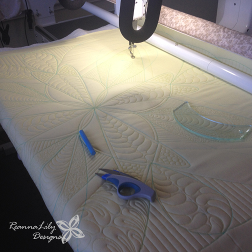 Free Motion Quilting | Longarm Quilting | Whole Cloth Quilt Design by Jen Eskridge