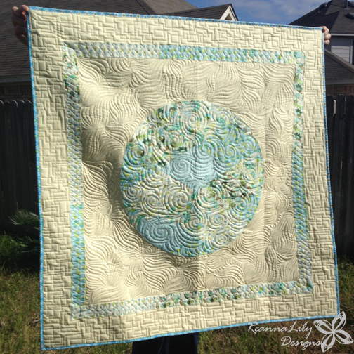 Longarm Quilting by Jen Eskridge | ReannaLily Quilts | Baby Boy Quilt