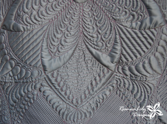 Platinum Garden | Whole Cloth Quilt by Jen Eskridge | ReannaLily Designs