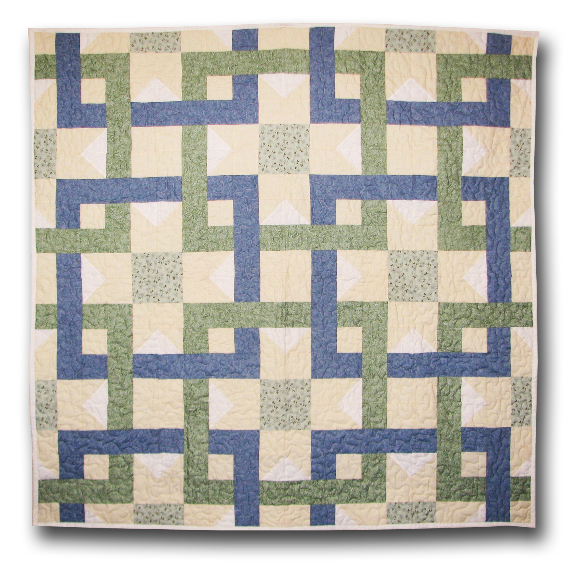 Quilting Pattern Shapes : Interlocking Squares Quilt Pattern ReannaLily Designs