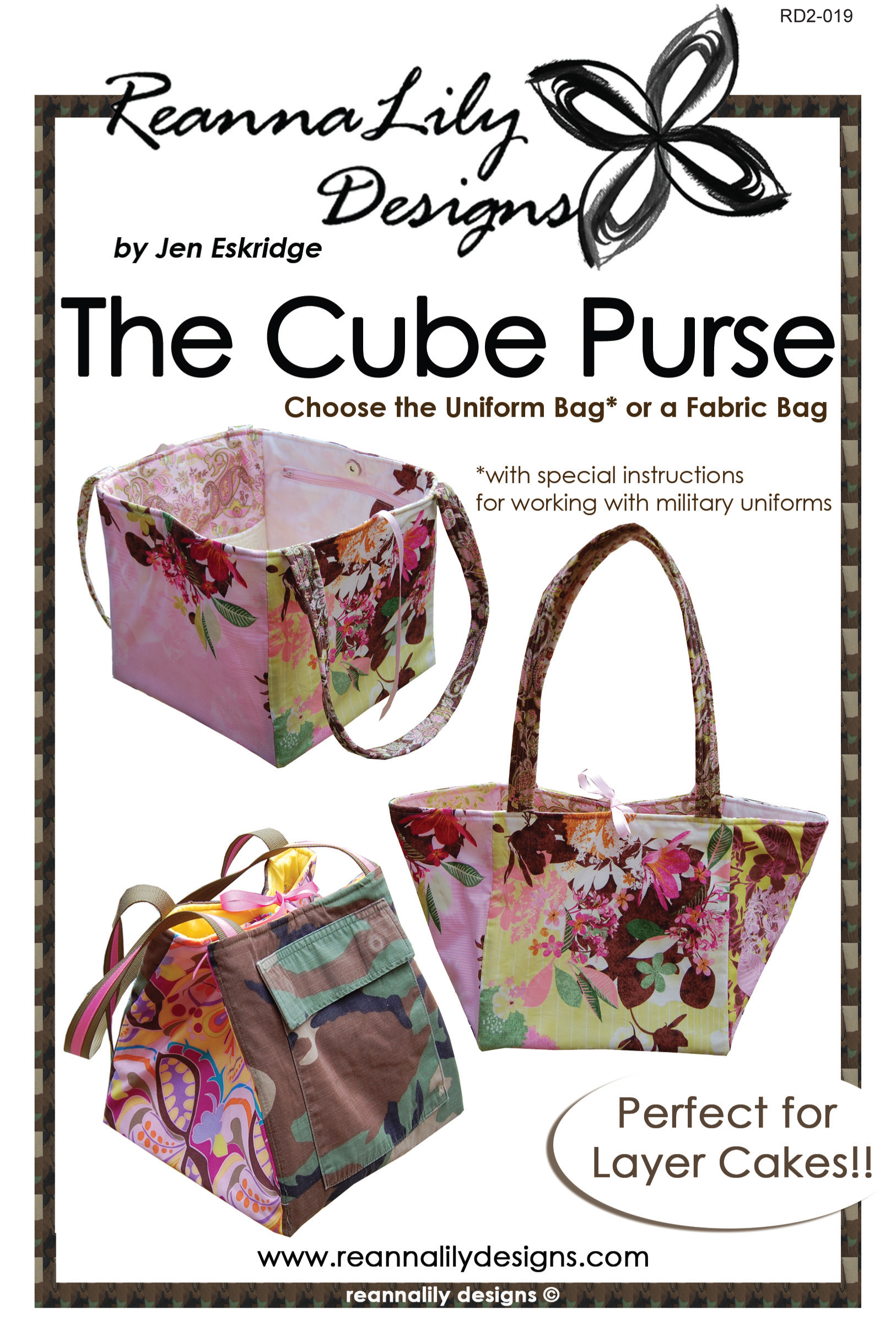 The Cube Purse Sewing Pattern Reannalily Designs