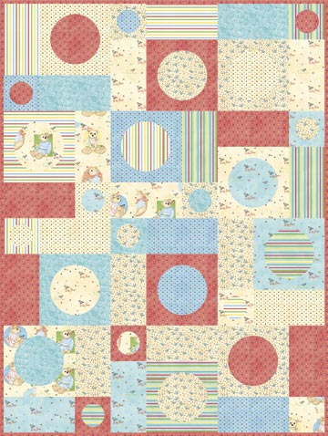 Teddy Bear Circles Quilt Pattern