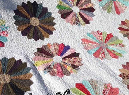 Finished Scrappy Dresden Quilt