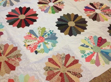 Scrappy Dresden Quilt Top