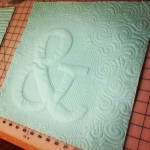 Text Trapunto Class | Monogramed Quilt Block | ReannaLily Designs
