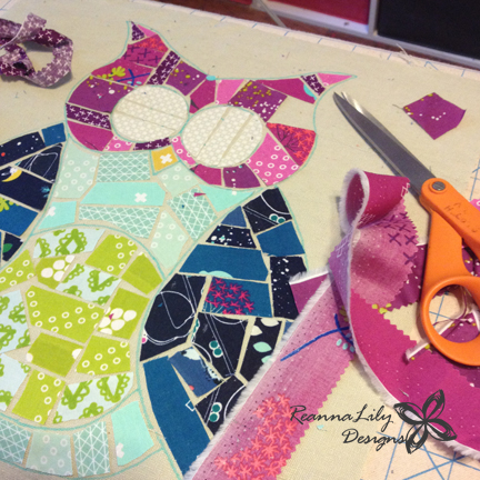 Ticker Tape Owl Quilt | ReannaLily Designs | Jen Eskridge