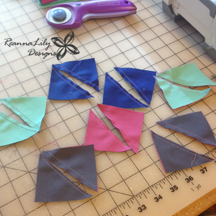 Seamingly Accurate Seam Guide | Make Half Square Triangles | ReannaLily Designs | Jen Eskridge