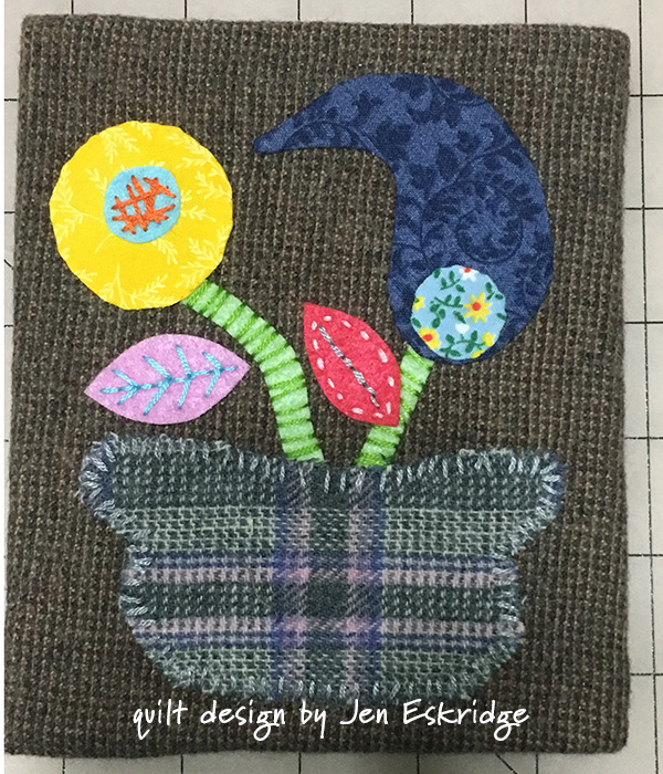 Wool Applique Wall Art by Jen Eskridge | ReannaLily Designs