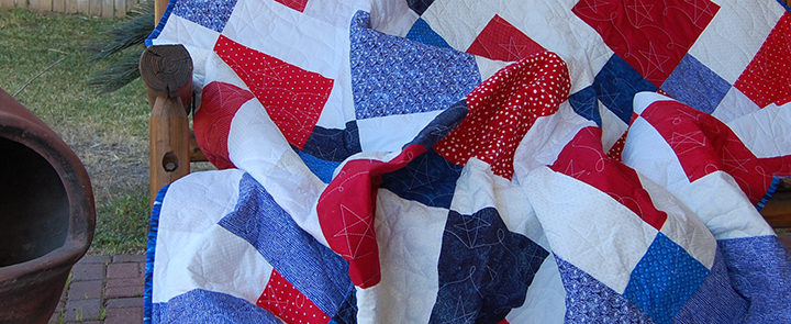Patriotic Disappearing 9-Patch with 10″ Precut Squares