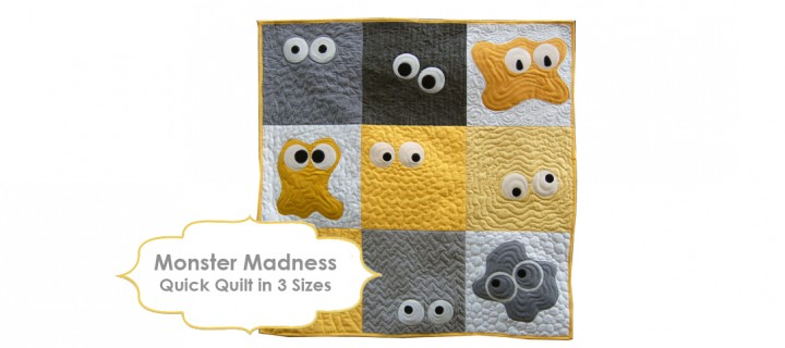 Halloween is Monster Madness Quilt Time!
