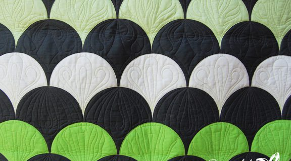 Lime Green Clamshell Quilt