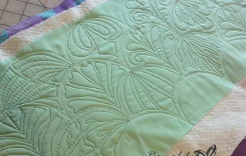 Domestic / Home Sewing Machine Quilted Clamshells