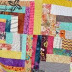 Scrappy Quarter Square Log Cabin | Jen Eskridge | Scrap Quilt | ReannaLily Designs | Longarm Quilting