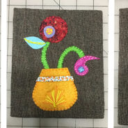 Hand Applique and Embroidered Wall Art