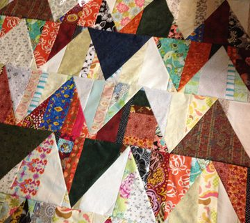 Scrappy Zigzag Triangle Quilt